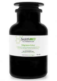 Zeolite MED® detox powder 700g in violet glass, Medical device