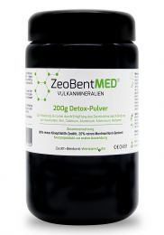 ZeoBent MED® detox powder 200g in violet glass, Medical device