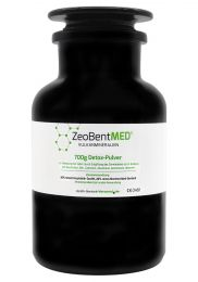 ZeoBent MED® detox powder 700g in violet glass, Medical device