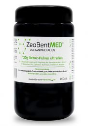 ZeoBent MED® detox ultrafine powder 120g in violet glass, Medical device