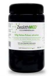 Zeolite MED® detox ultrafine powder 120g in violet glass, Medical device
